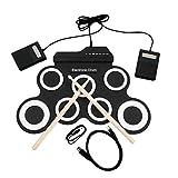 Unitedheart USB-E-Drum, USB-E-Drum G3002 Drum-Kit Drum-Set Schlaginstrument für Kinder Verdickte Silikon-Faltbare Roll-up