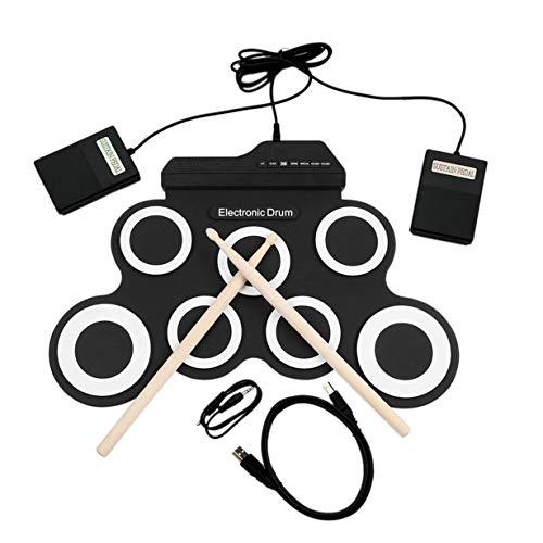 Uniqueheart USB E-Drum G3002 Drum Kit Schlagzeug Schlaginstrument Für Kinder Verdickt Silikon Faltbare Roll-up