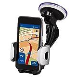 Hama KFZ Smartphone Halterung Universal (für Geräte mit einer Breite von 30 - 65 mm, inkl. Klebepad, Saugnapf-Halter und Lüftungsgitter-Klemme) schwarz