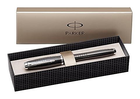 Parker Urban Premium Stylo plume Pointe Moyenne Attributs Chromés Ebène Métal Ciselé