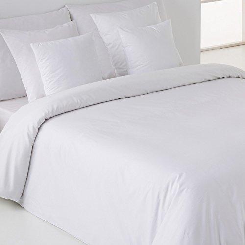 Sábanas HOTELES - Funda Nórdica Sedalinne. Calidad 200 hilos. Percal 50% algodón - 50% poliéster. Cama 90 cm. Color Blanco