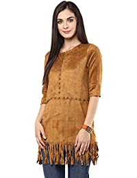 Remanika Brown color Knitted Polyester Top for womens