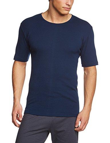 Calida Herren Unterhemd Kurzarm Cotton 1:1 Blau (admiral 883)