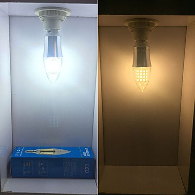 FDH 1 pcs E14 9W 45 SMD2835 850 lm / blanco blanco cálido C35 Luces LED Vela decorativa 85-265 V CA, blanco