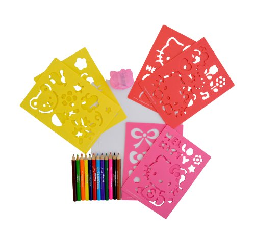 Image of Hello Kitty Pencils and Stencils Set