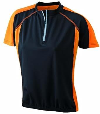 James & Nicholson Damen T-Shirt Bike T-shirt Small black/orange