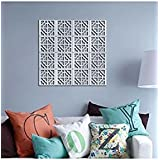 Banggood ELECTROPRIME 10pcs Mirror Tile Silver Wall Sticker 3D Decal Room Decor Stick On Removable