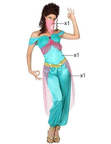 Atosa - Disfraz de bailarina árabe para mujer, color azul claro, tamaño 42/44 (26419)
