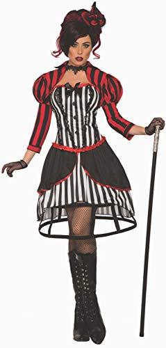 Circus Kostüm Frauen - Forum Novelties ac81051Mystery Circus Madame Kostüm, Frauen, Schwarz, Rot und Weiß, eine Größe