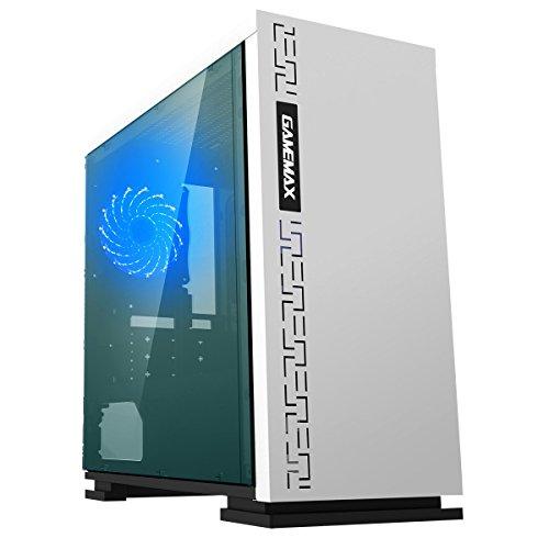 Game Max Expedition White Gioco Matx PC Case Posteriore LED Ventola & Finestra Laterale Completa