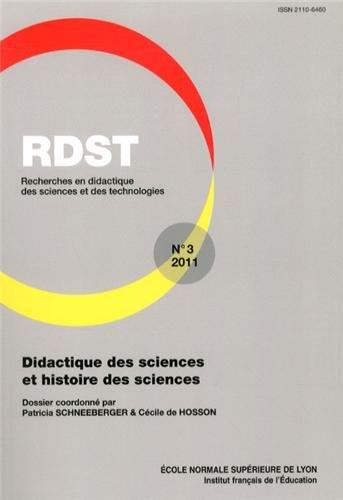 RDST, N° 3-2011 : Didactique des sciences et histoire des sciences