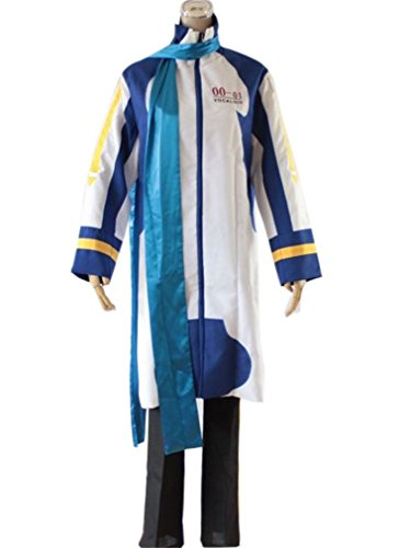 SUNKEE Vocaloid Kaito Cosplay kostüm, Größe M: Höhe (168cm-172cm), Gewicht 130-145 Pfund (60-65 (Von Kaito Kostüm Vocaloid)