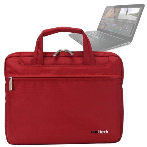 Navitech Rotes Case / Cover / Tasche für Laptops / Notebooks und Tablet PC's für das Dell Precision M3800