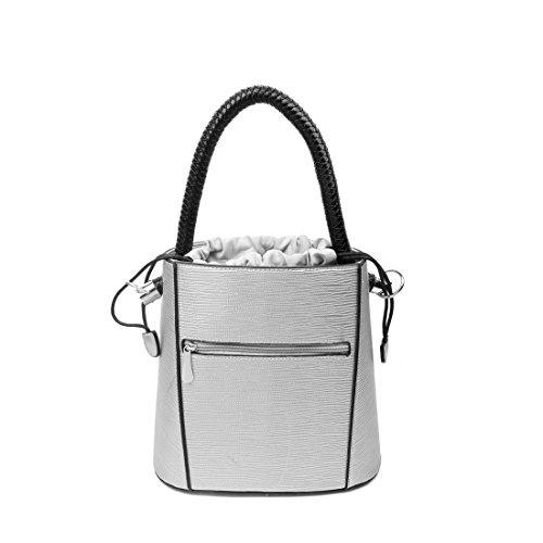 OBC stylische Damen Tasche Bucket Bag Hobo Handtasche Henkeltasche Boho rockig Beige Beige