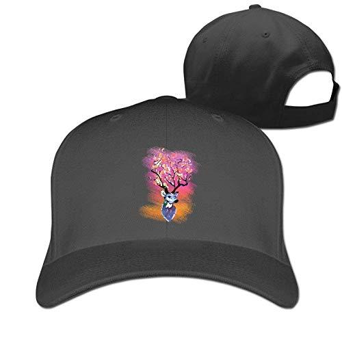 Hunting Deer Watercolor Art 100% Cotton Baseball Cap Plain Low Profile Hat Fashion Trucker Twill Mesh Camo Deer Fall