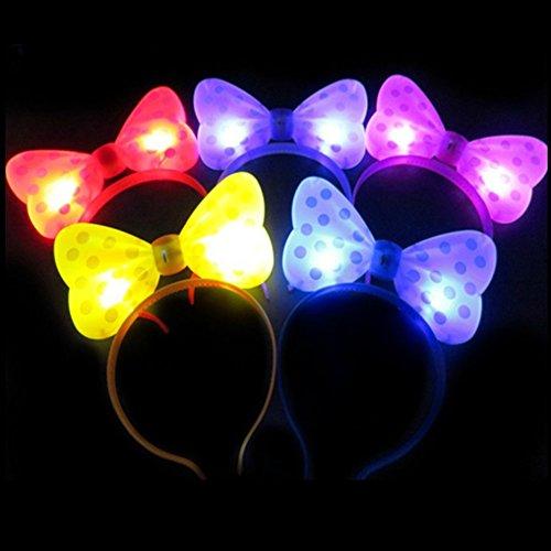 LED Haarband (12PCS) LED Ears, blinkende LED Light Up Bow Haarband Band headkkot Head Bopper für Rave Geburtstagsfeier Halloween Custom Holiday farblich sortiert Ship RANDOMLY (zufällige (Halloween Kostüme Unglaublichen Die)