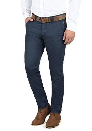 Blend Tromp Herren Chino Hose Stoffhose Aus 100% Baumwolle Regular Fit, Größe:W36/34, Farbe:Navy (70230)