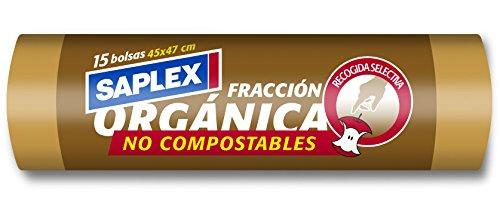 Saplex Bolsas de Basura Organica - 15 Unidades