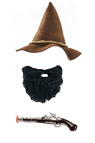 Räuber Kostüm - Marco Porta Räuber Kostüm Zubehör Set komplett