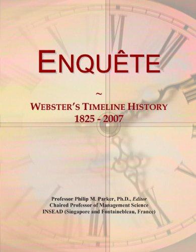 Enquête: Webster's Timeline History, 1825-2007