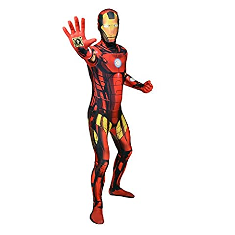 Le costume officiel de déguisement digital de luxe Iron Man - size XXLarge - 6'2-6'9 (186cm-206cm)