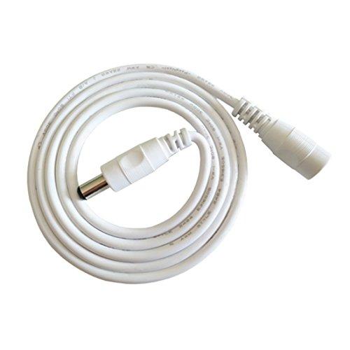 Liwinting 2m DC/Gleichstrom Verlängerungskabel 5.5 mm x 2.1 mm DC Anschlusskabel DC Verbinderkabel Verteiler DC Stromkabel für 12V Netzteil, Auto-LKW-Monitor CCTV LED-Licht Parken-Rückkamera,Weiß