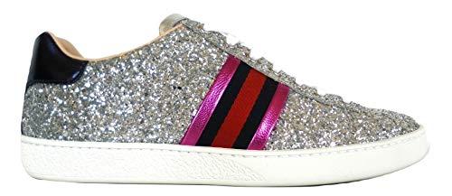 gucci italia - Zapatillas para Mujer Plateado Plateado Plateado Size  38 EU a8dba3e1472