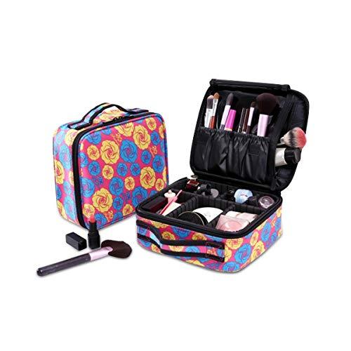 NICOLE&DORIS Tragbare Kosmetiktasche Schminkkoffer Make-up Taschen Etuis verstellbaren Trennwänden...