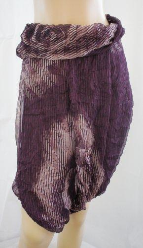 Benetton semi transparent à rayures en jupe et chemisier de Violet