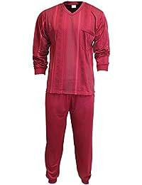 Herren Schlafanzug Pyjama Zweiteiler lang 2-tlg mit V-Ausschnitt Nr. 4673