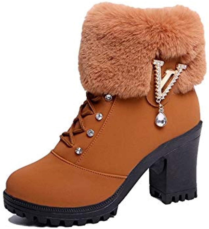 YSFU bottes Chaussures À Talons Hauts pour Femmes  Wearable Shoes  Femmes  Bootie Casual Automne Hiver Extérieur...B07K5QFB2SParent b73618