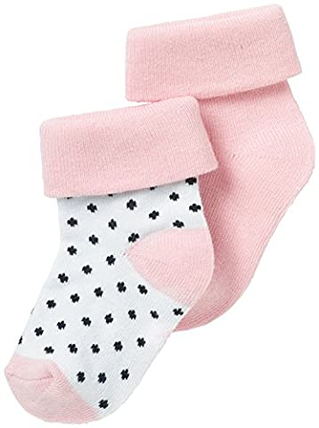 Noppies Baby-Mädchen G Socks 2pck Nampolyamide-67367 Rosa (Light Rose C092), Neugeboren (Herstellergröße: