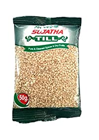 Sujatha Spices Organic Sesame Seeds (White-Till) 50Grams Pack of 20