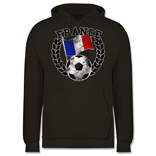 EM 2016 - Frankreich - France Flagge & Fußball Vintage - Männer Premium Kapuzenpullover / Hoodie Olivgrün
