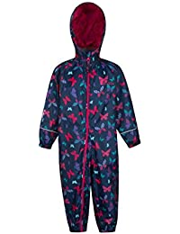 Mountain Warehouse Puddle Kids Printed Rain Suit - Waterproof Childrens Rain Coat, Breathable Waterproof Coat, Taped Seams Summer Suit, High Vis Suit - for Travelling