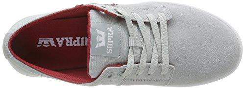 Supra Herren Stacks II Low-Top Grau (LIGHT GREY / RED - WHITE 040)