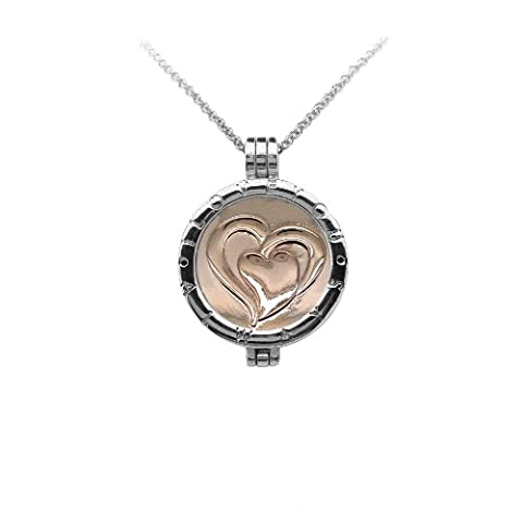 I Love You Always 33mm Interchangeable Locket Pendant Medallion Holder with Coin Moneda Disc with Crystals compatible with Mi Moneda, Virtue, Emozioni Hot Diamonds, Mi iMenso and Lucet