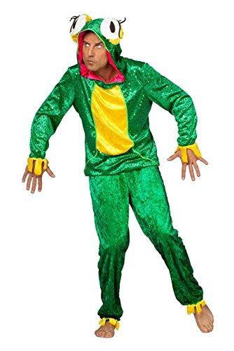 Panelize Frosch Froschkostüm Frogger Herrengröße 52 + 56 (52) (Kermit Der Frosch Kostüme Für Erwachsene)