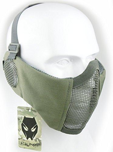Mascarilla protectora de malla inferior de nailon con cubierta para la oreja de Worldshopping4U, Tactical Airsoft CS, FG
