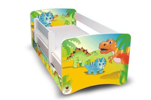 Best For Kids Kinderbett Jugendbett 80x180 mit Rausfallschutz und zwei Schubladen 44 Design