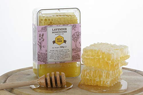 Lavendel Honigwabe | Honig von Hompass | Imker-Bienenhonig-Honig für gesundes Leben| Honigwabe| Wabenstück (200 Gramm)