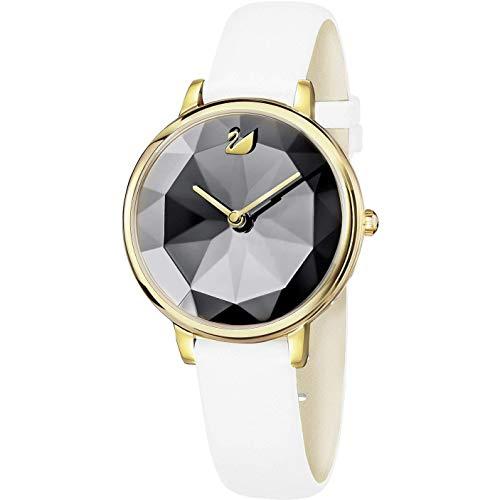 Swarovski Crystal Lake Damen-Armbanduhr 35mm Armband Leder Batterie 5416003