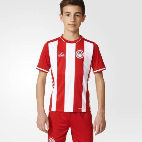 Home Olympiacos FC 2015/2016–T-Shirt offizielles Adidas für Kinder, Olympiacos FC H Jsy Y, rot / weiß, 13-14 años (American T-shirt Kinder Apparel)