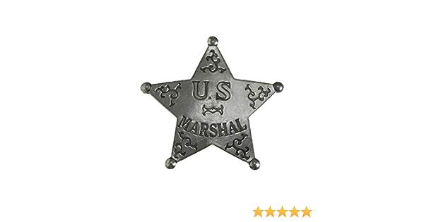 Anstecker Pin Sheriffstern Us Marshal Historische Nachbildung Made In Usa Western Country Schmuck