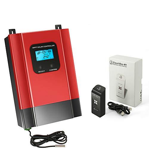 NOBLJX 40A MPPT Solar Charge Controller 12V/24V/36V/48V Mit LCD-Display-Batterie-Charge und Discharge Voltage Regulator mit WiFi APP Off-Grid Solar System - Charge Solar Controller 36v