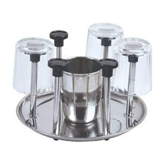 Rotex Stainless Steel Glass Stand/Tumbler Holder/Glass Holder for Kitchen/Dining Table (Nickel Chrome)