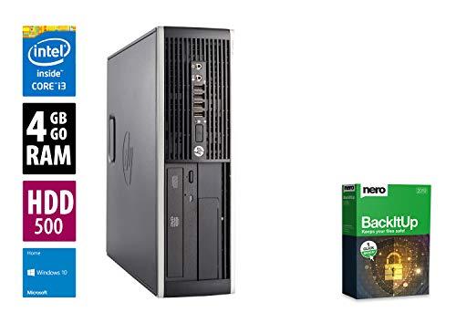 Ordinateur de Bureau HP EliteDesk 800 G1 SFF- Core i5-4670 @ 3,4 GHz - 8Go RAM - 500Go HDD - Graveur DVD - Win10Pro (Reconditionné Certifié)