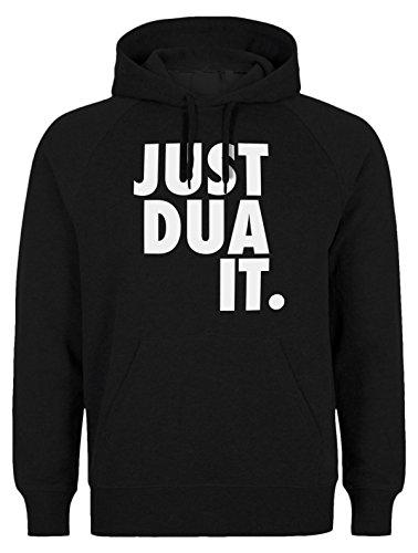 Just DUA IT Classic - Islam Hoodie SLAMISCHE Streetwear Kapuzenpulli Kapuzenpullover Kleidung FÜR Muslime BEDRUCK Outdoor Islam Fashion (XL, Schwarz)