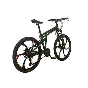 Helliot Bikes Hummer 02 Bicicleta de montaña Plegable, Adultos Unisex, Verde Militar, M-L