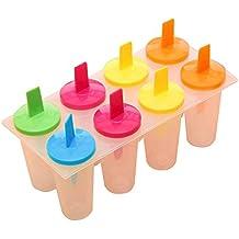 Eco-Friendly 8 de células congeladas Ice Cream Pop Mold Popsicle fabricante del polo Herramientas de moldes